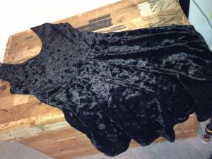 Black Crushed Velvet Skater Dress | I Think It's Ashley
